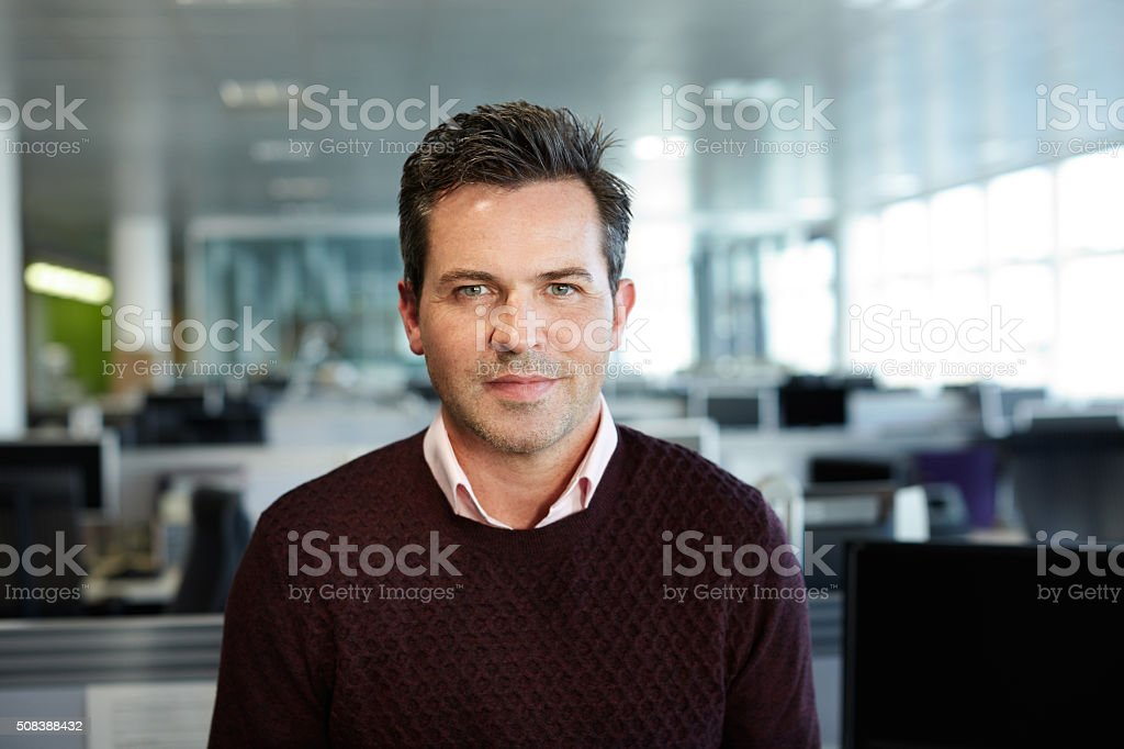 Confidence in the workplace stock photo