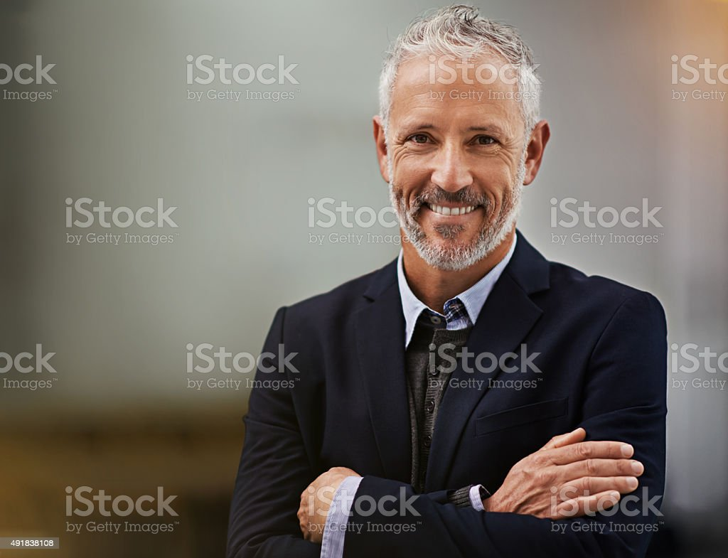 Confidence is a must for corporate success stock photo