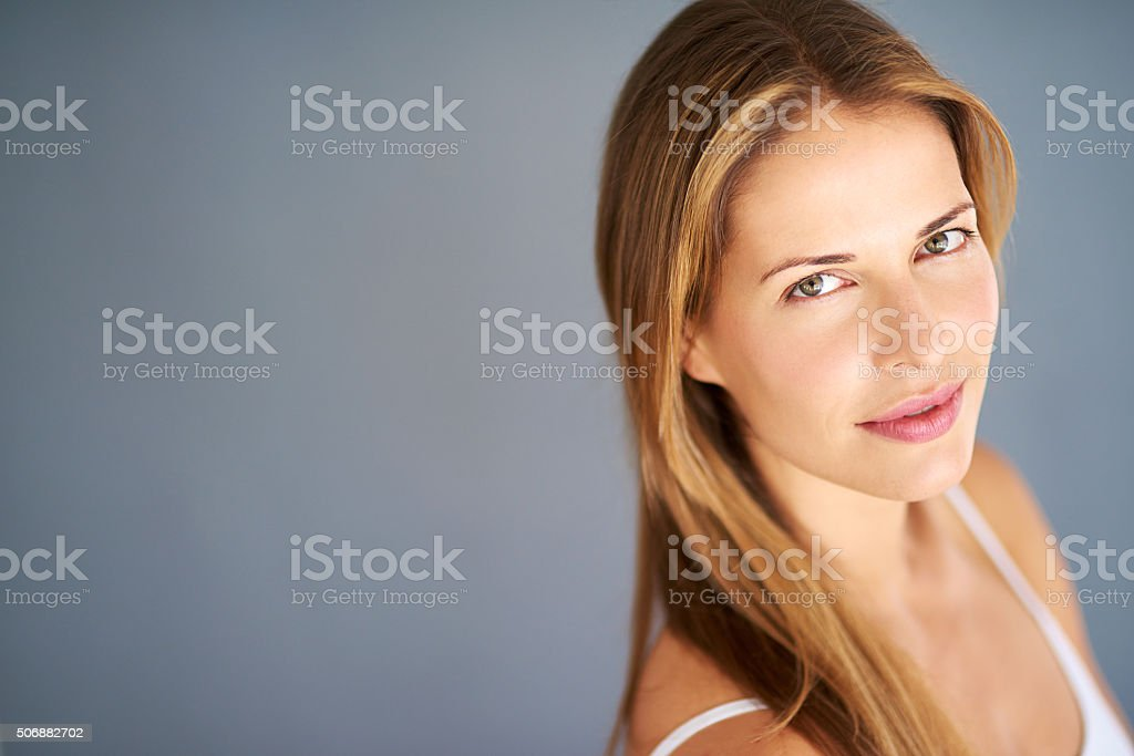 Confidence is believing in your inherent beauty stock photo