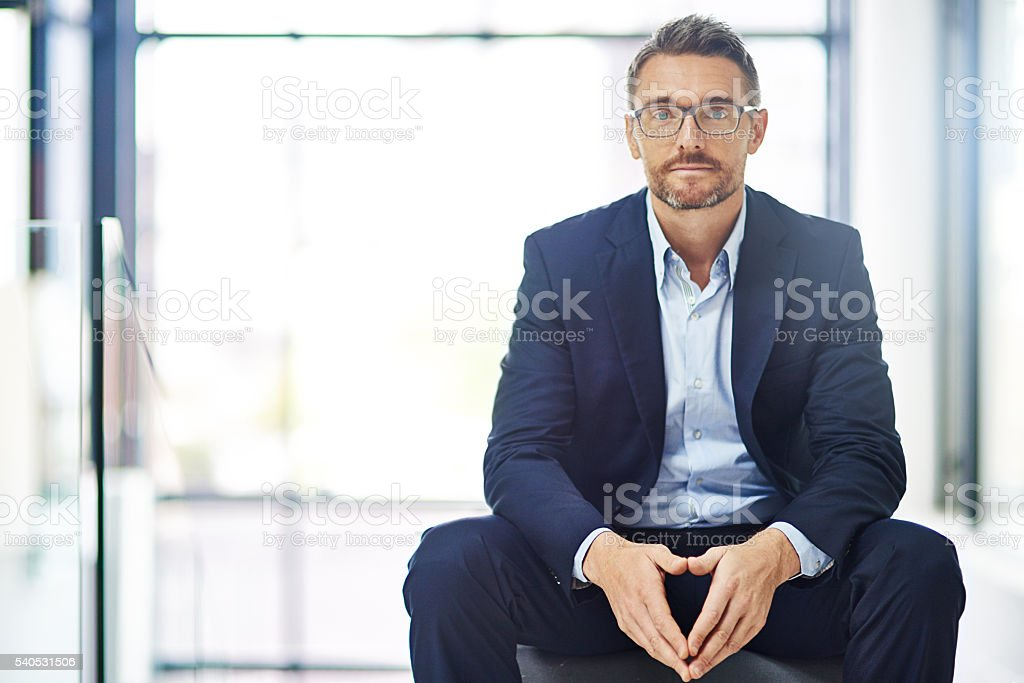 Confidence is key to conveying a successful business image stock photo