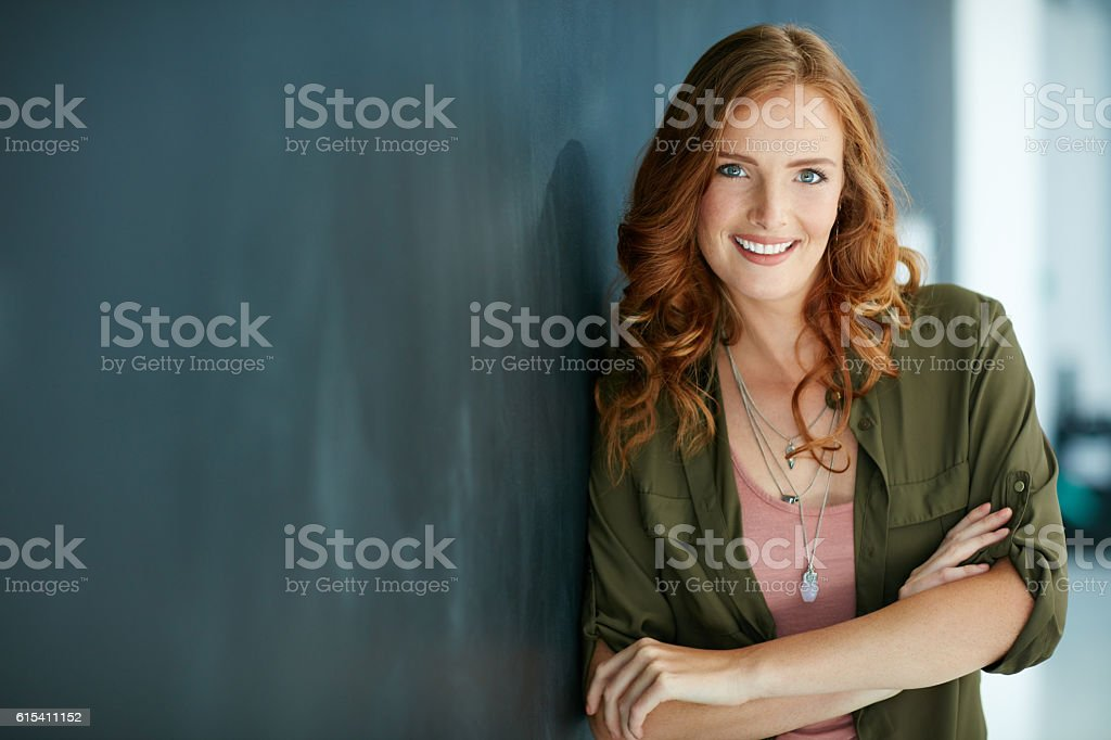 Confidence is my favourite accessory stock photo