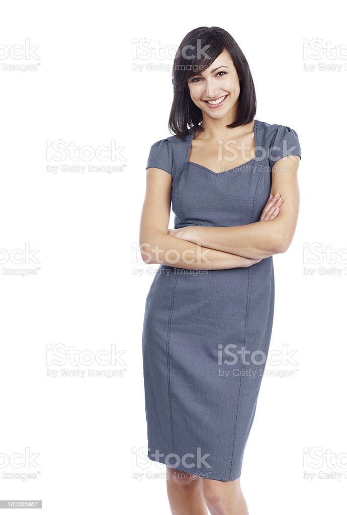 Confidence is the key to business success stock photo