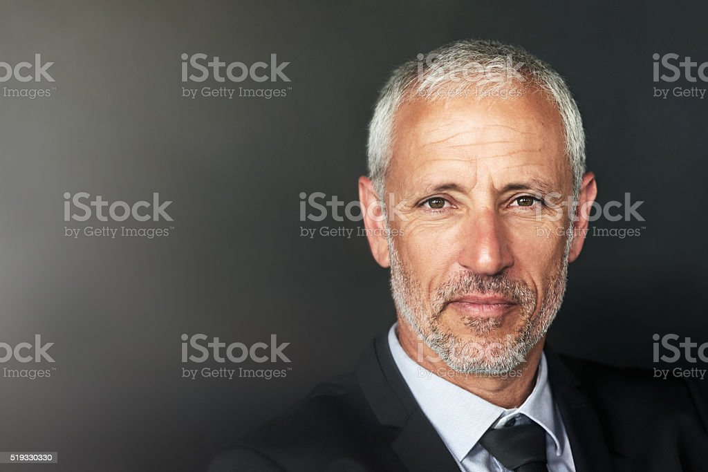 Confidence is the key to my corporate success stock photo