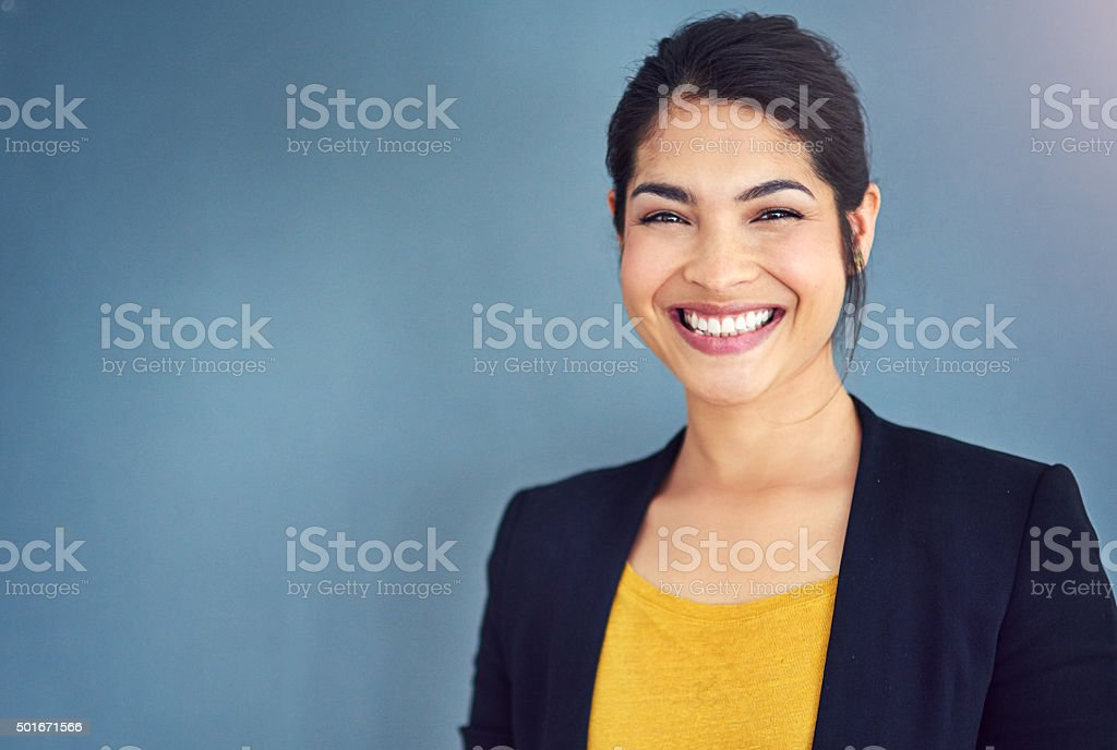 Confidence is the key to success stock photo