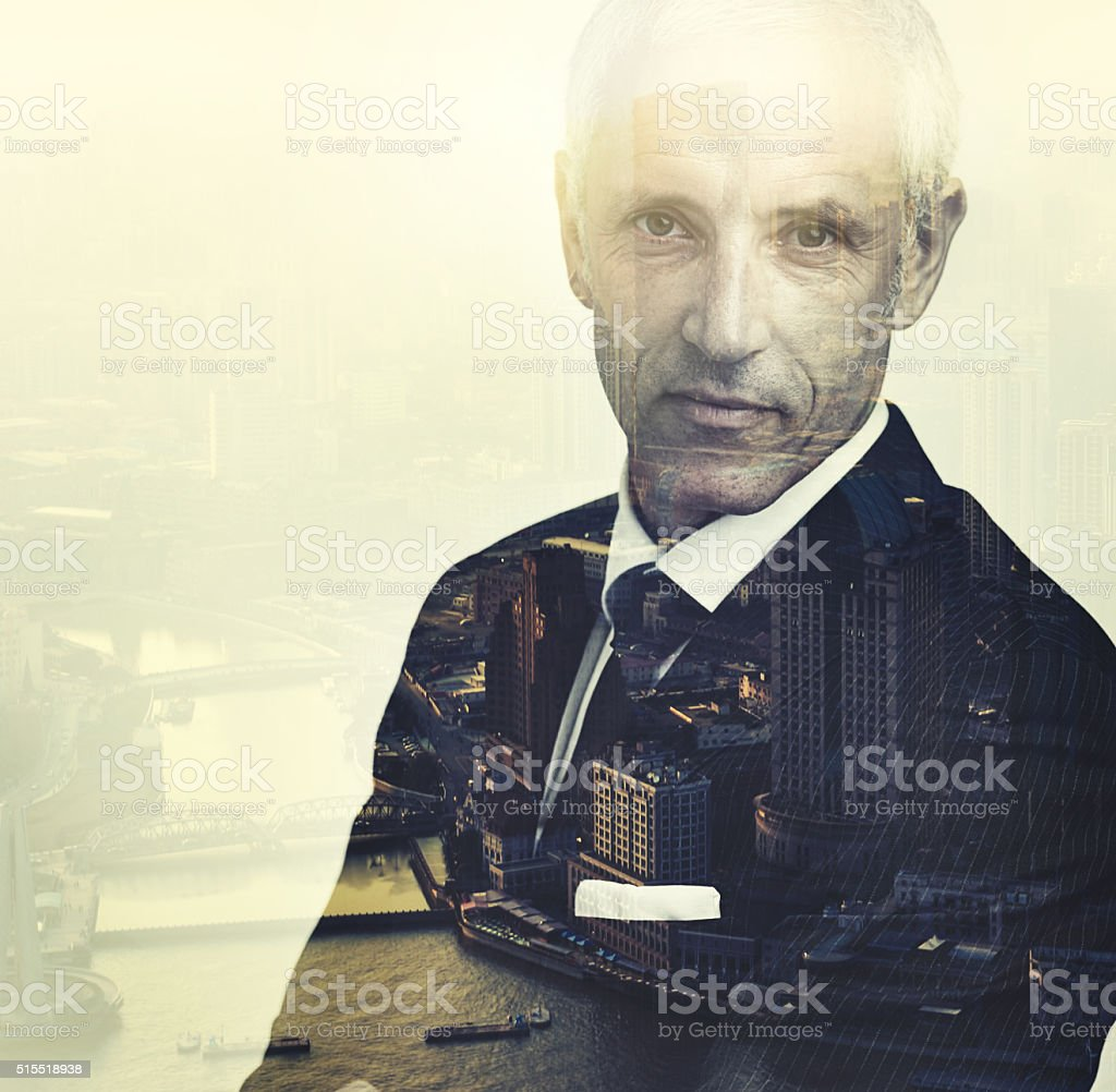 Confidence is the key to to city stock photo