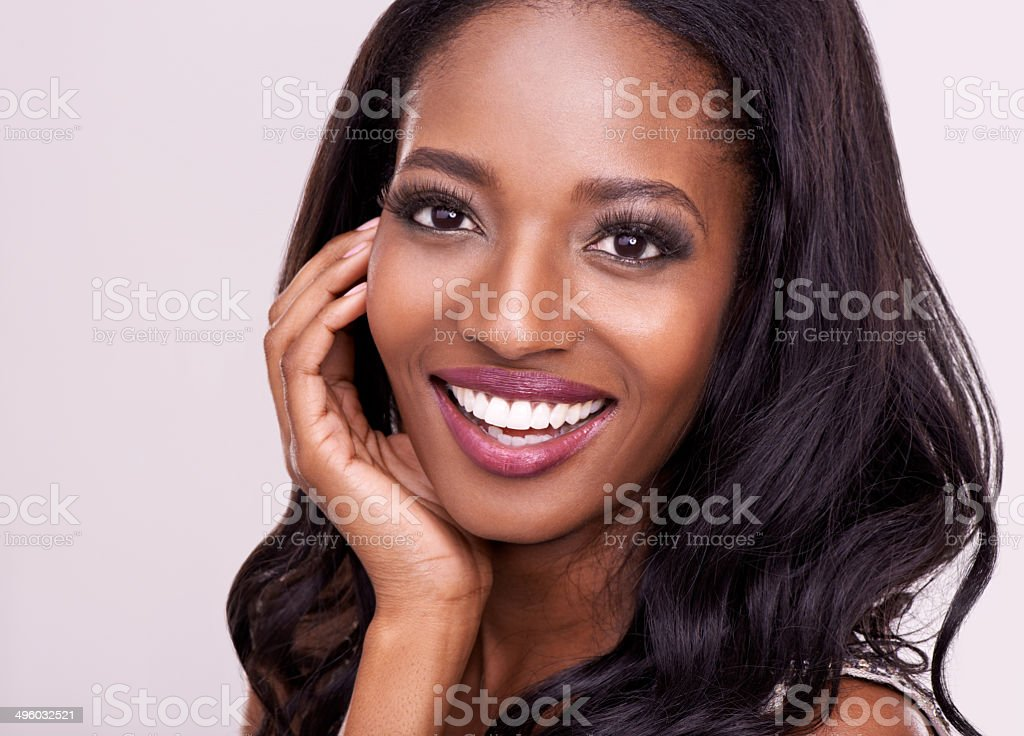 Confidence is the most important part of beauty stock photo