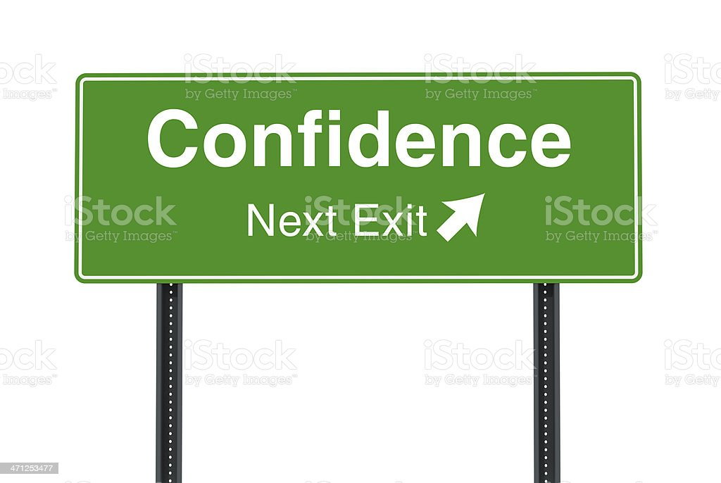 Confidence Next Exit Sign royalty-free stock photo