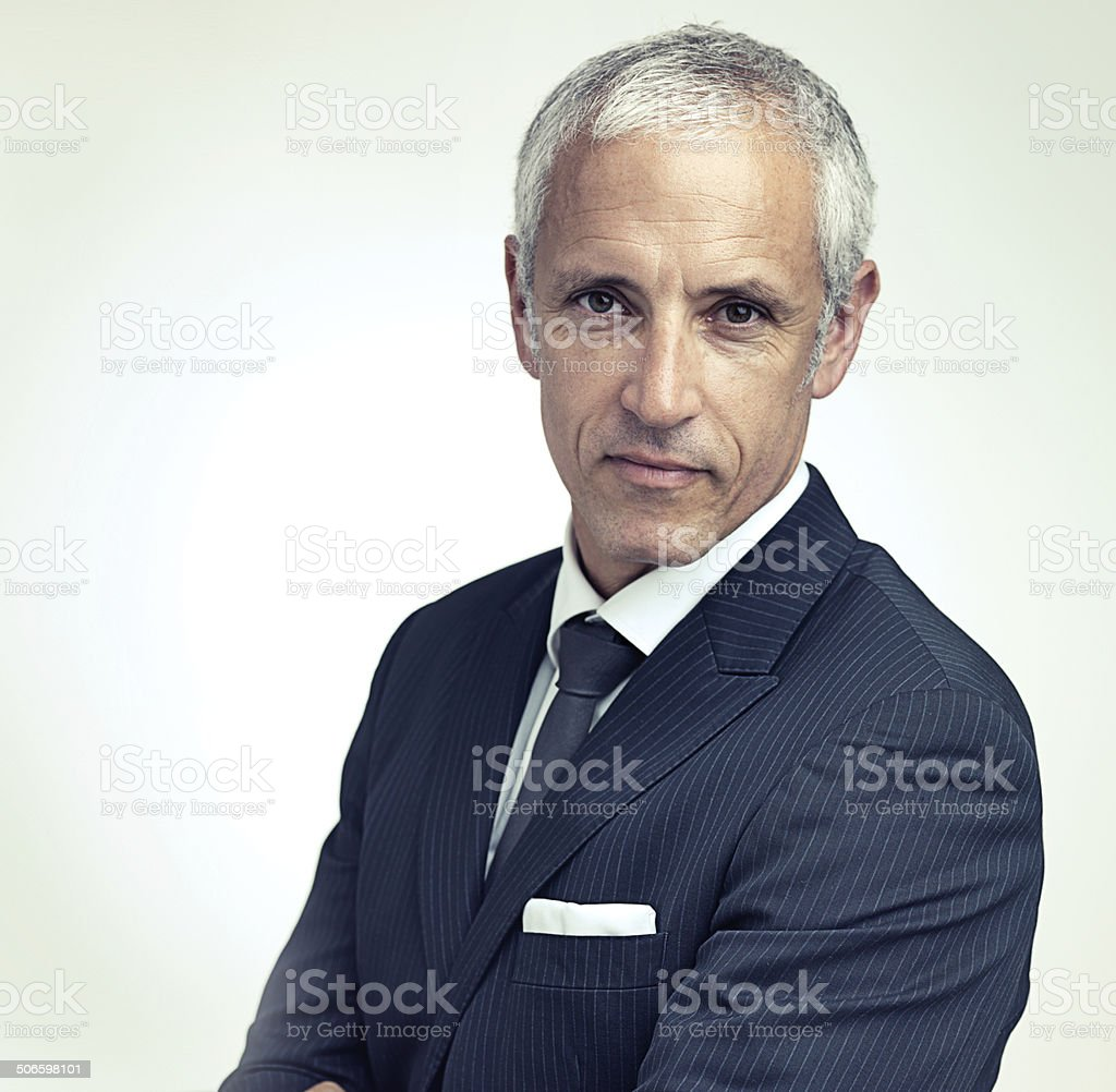 Confidence suits him stock photo