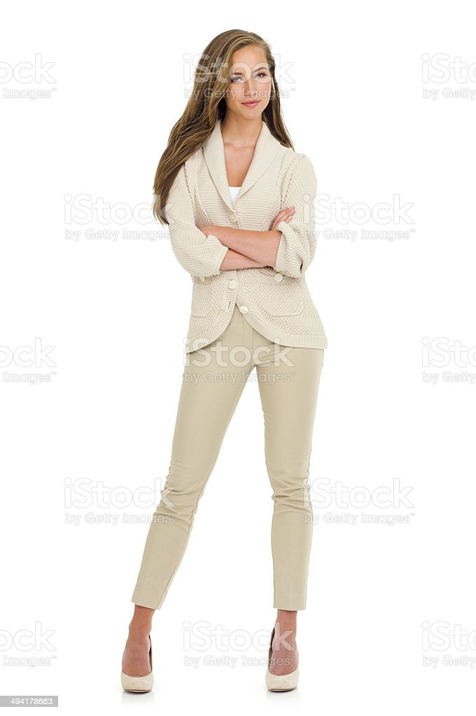 Confidence to complement a stunning outfit stock photo