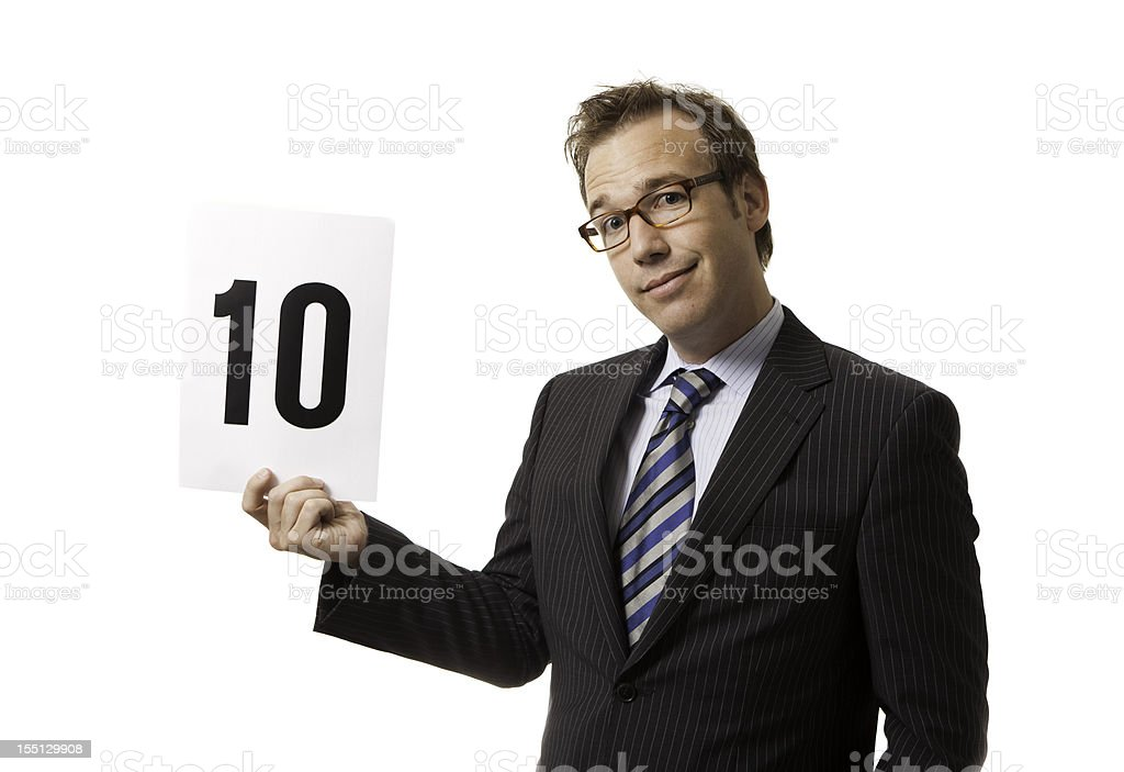 Confident 10 royalty-free stock photo