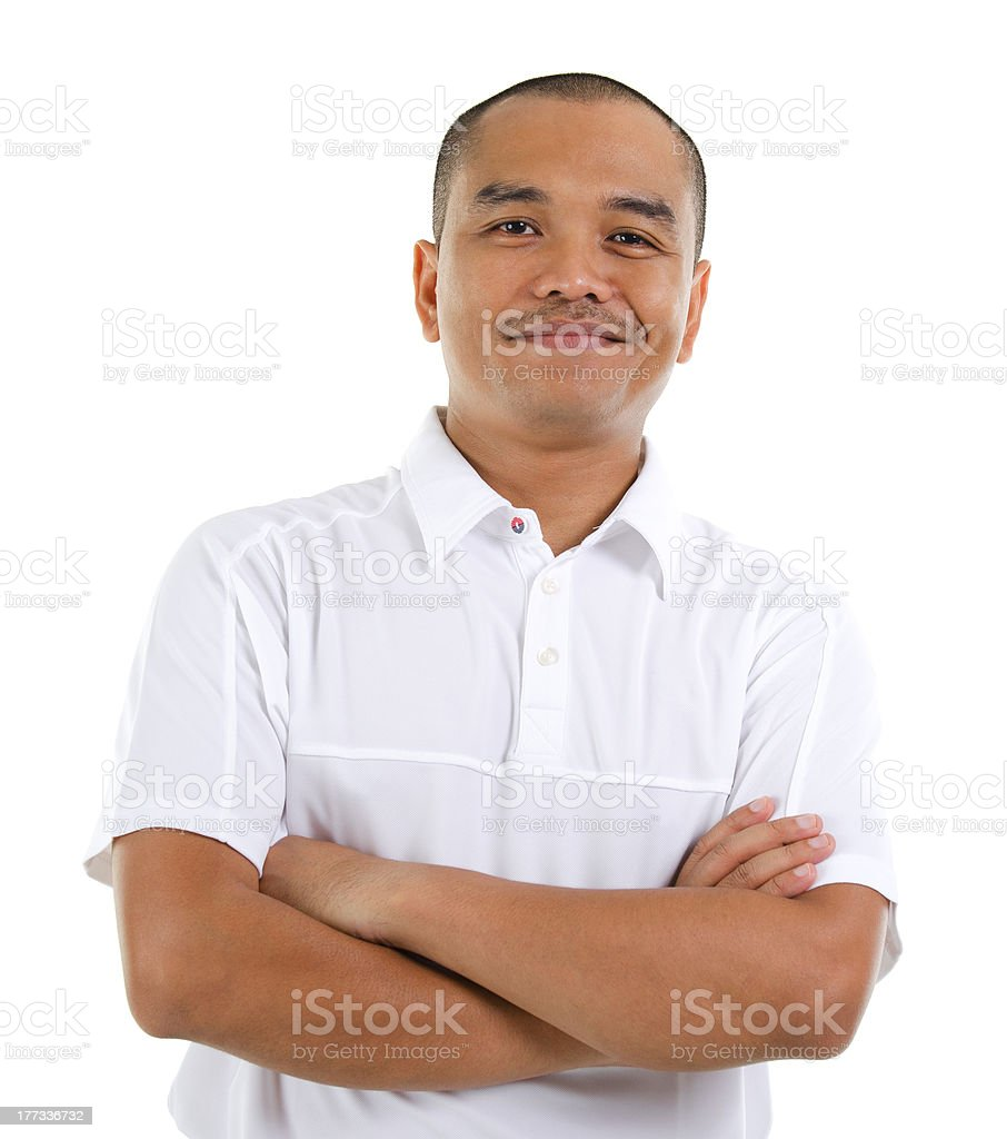 Confident 30s Southeast Asian man stock photo