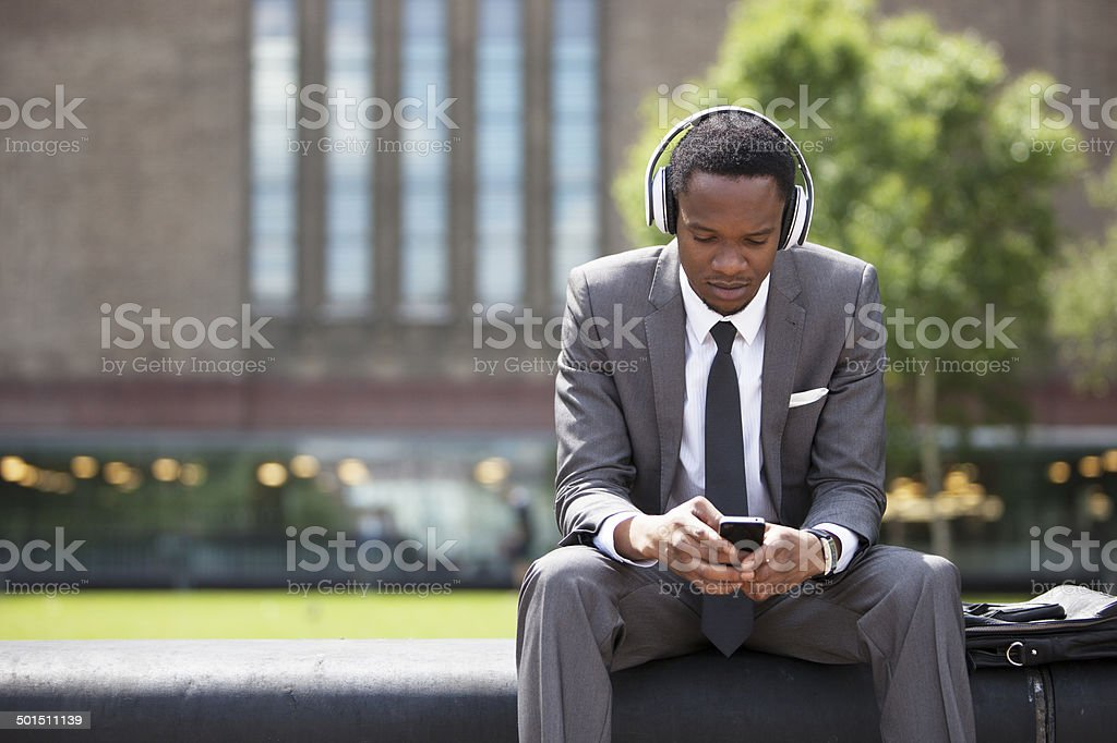 Confident African American Businessman stock photo