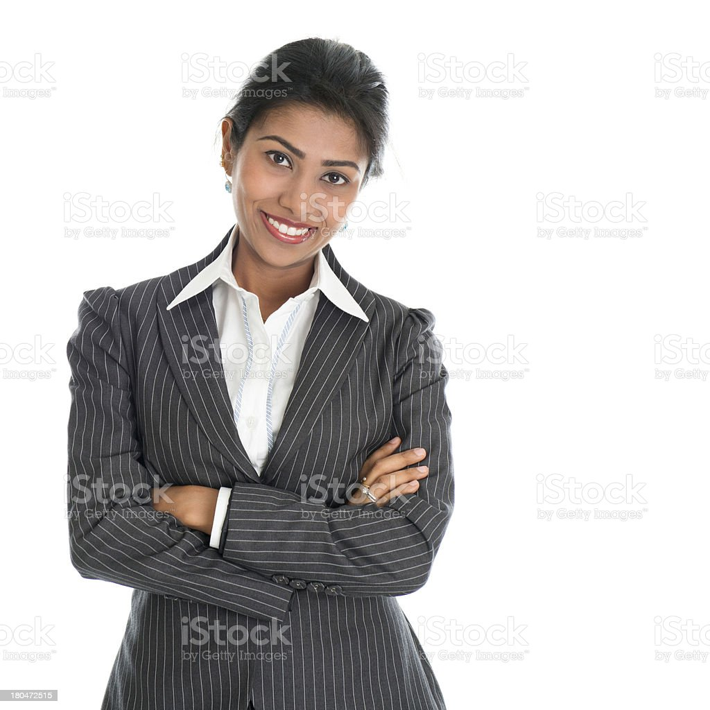 Confident African American businesswoman stock photo