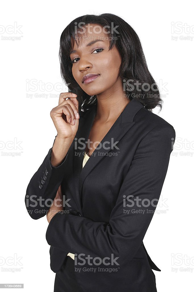 Confident African American Corporate Business Woman royalty-free stock photo