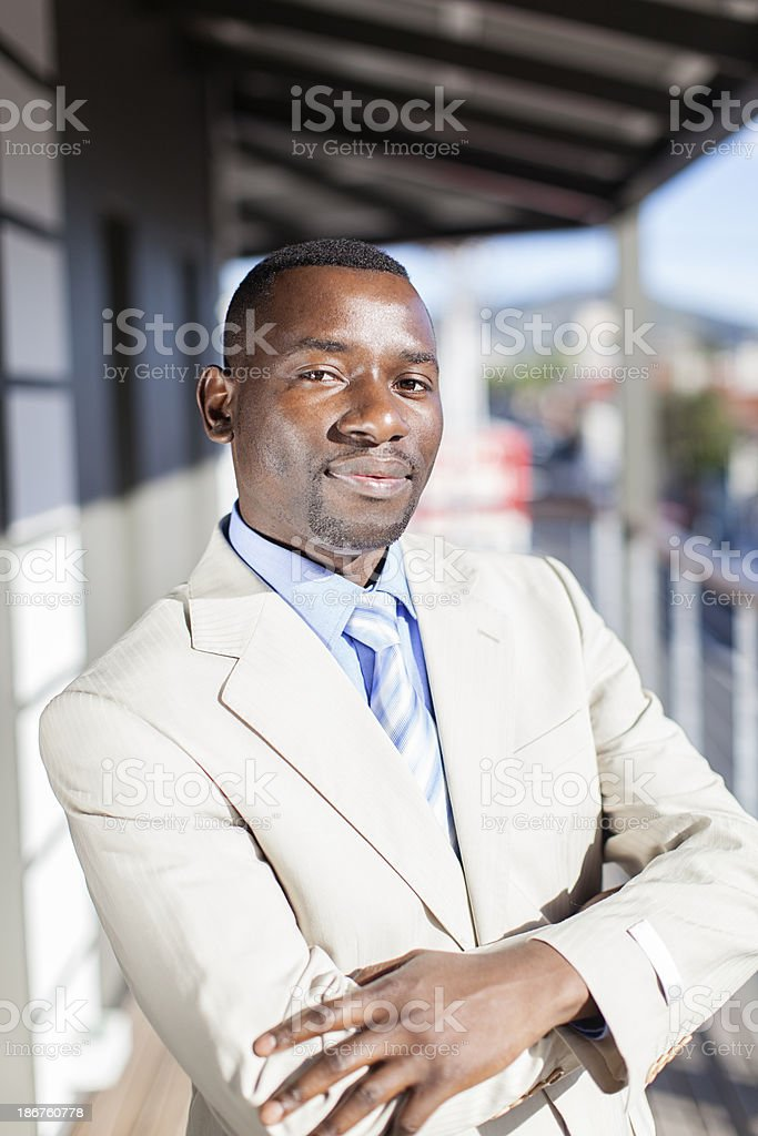 Confident african businessman. royalty-free stock photo