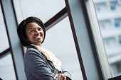 Confident African female executive