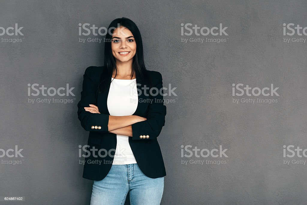 Confident and beautiful. stock photo