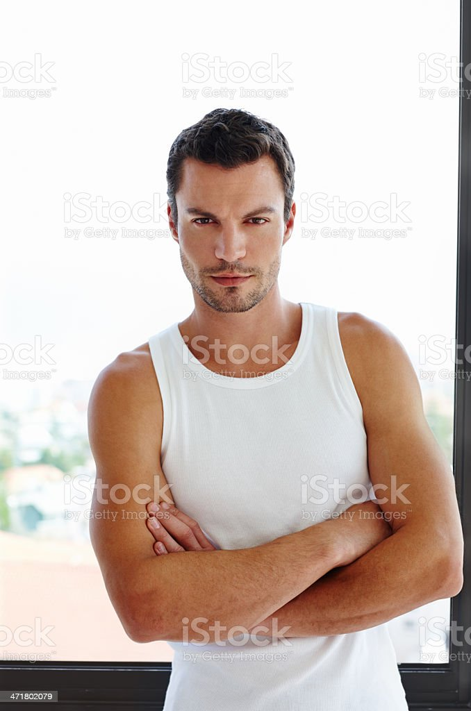 Confident and casual royalty-free stock photo