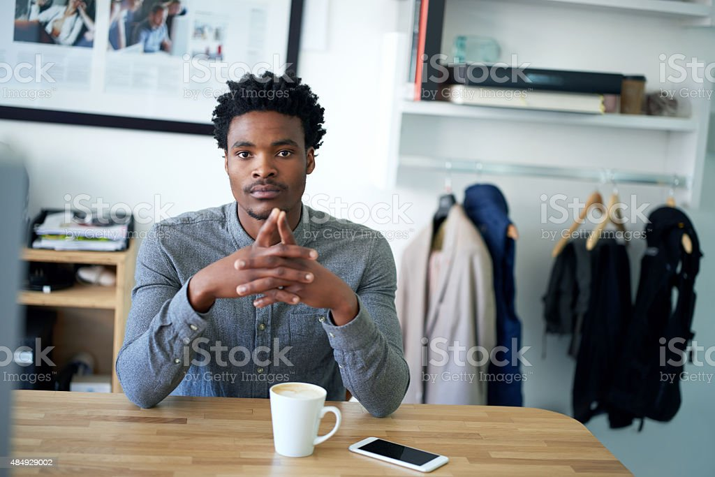 Confident and composed stock photo