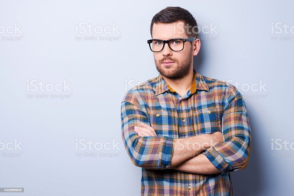Confident and creative. stock photo