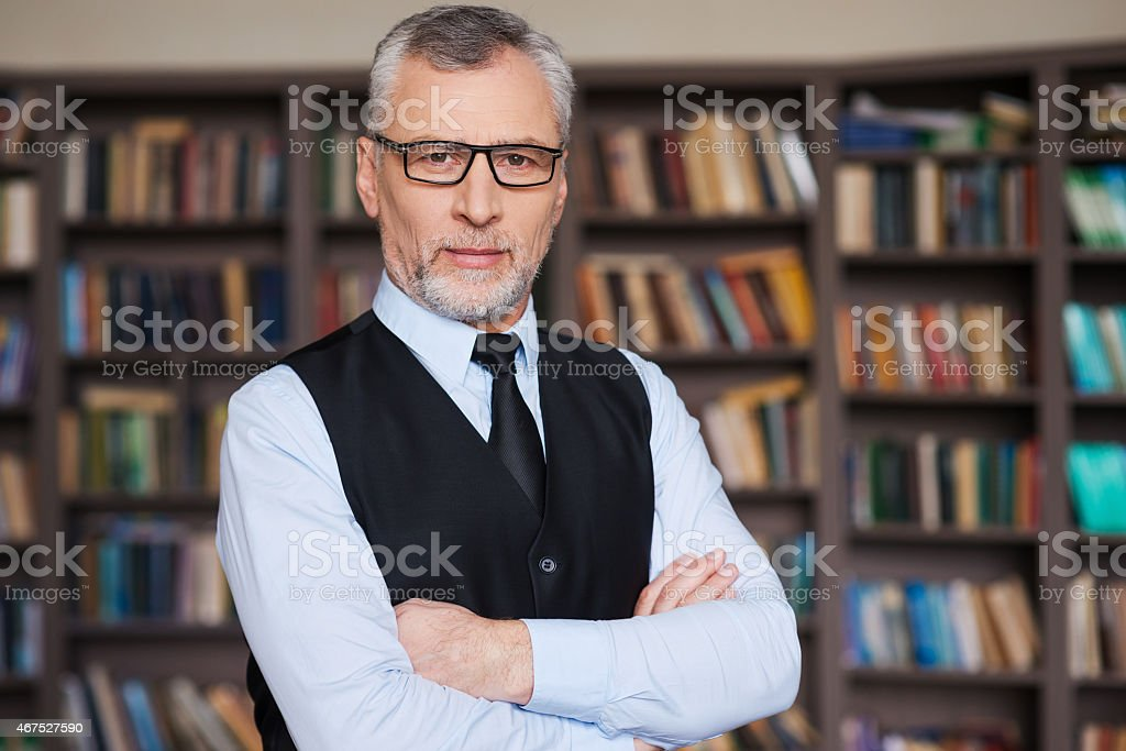 Confident and intelligence. stock photo