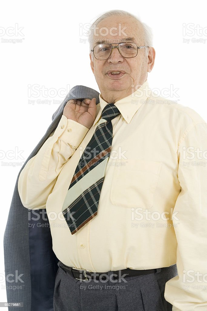 confident and mature businessman royalty-free stock photo