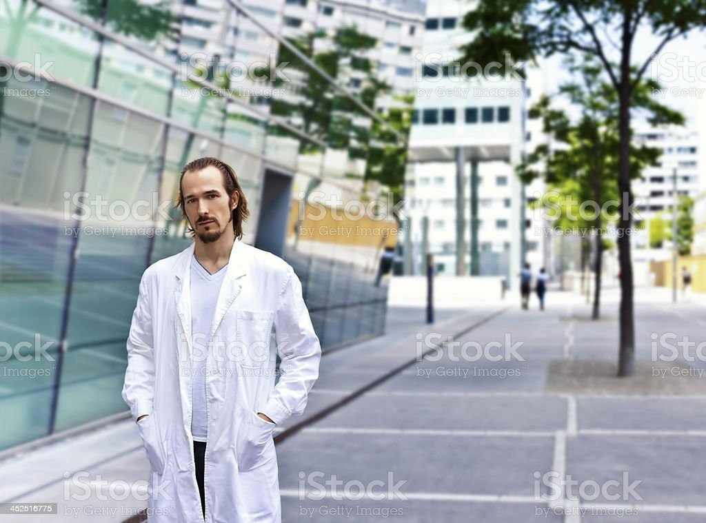 Confident and smart scientist or doctor stock photo