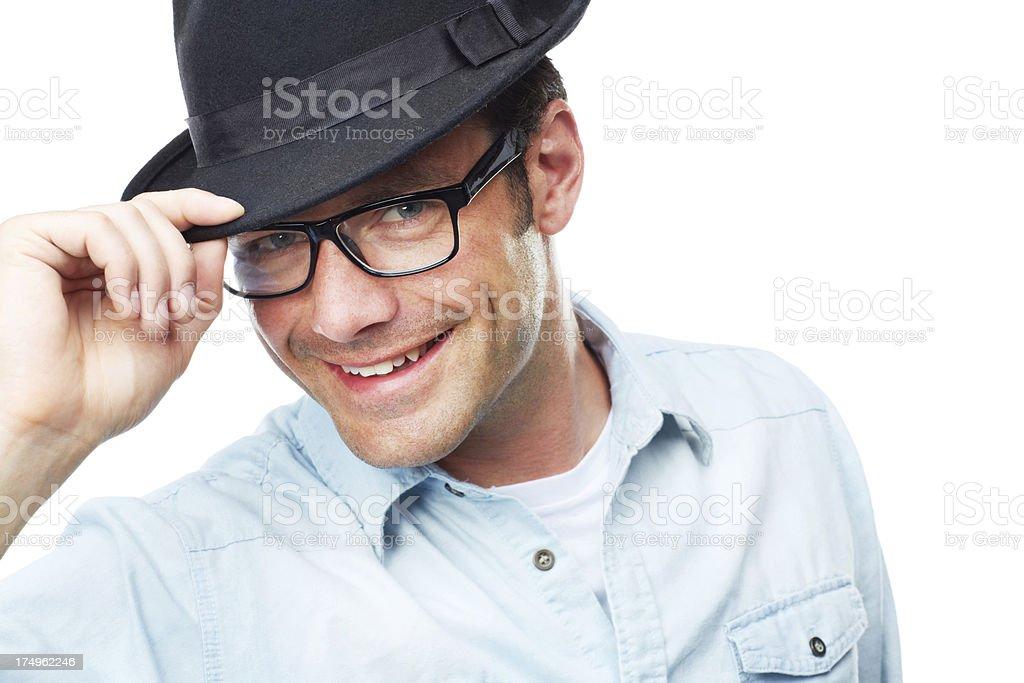 Confident and suave stock photo