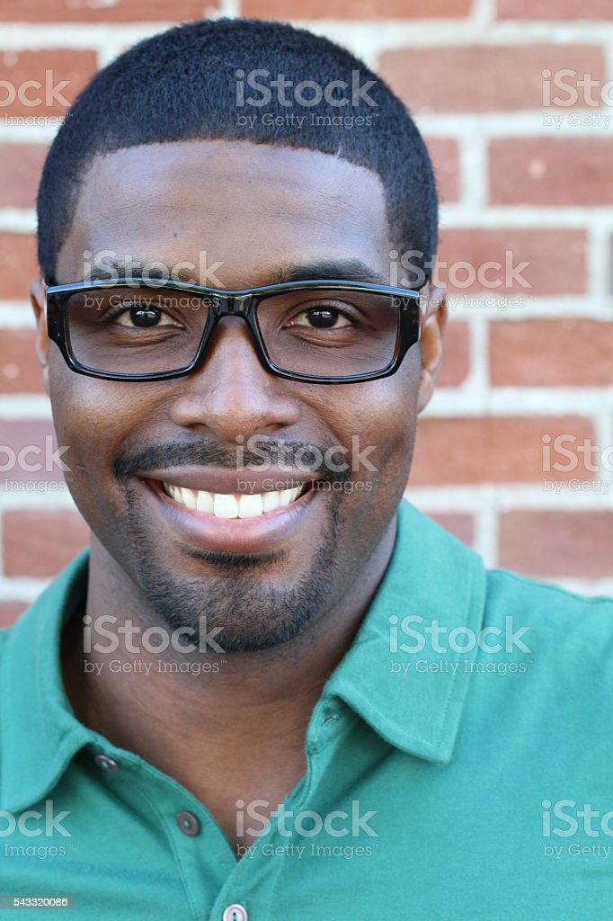 Confident and successful African American businessman stock photo
