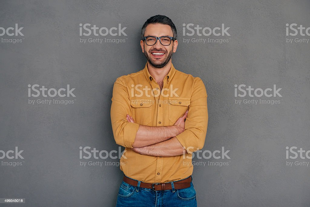 Confident and successful. stock photo