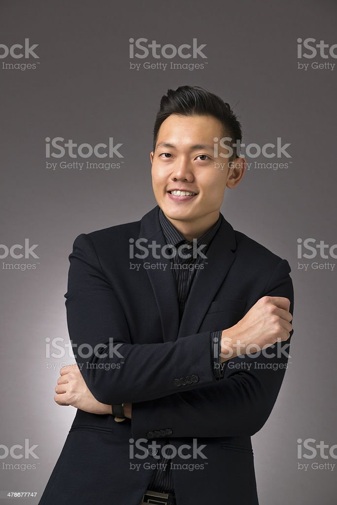 Confident Asian Man royalty-free stock photo