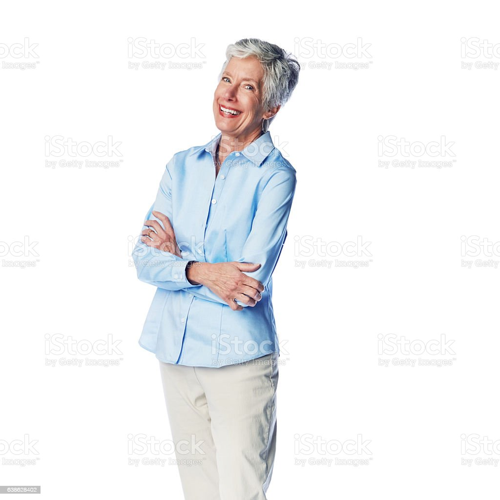 Confident at every age stock photo