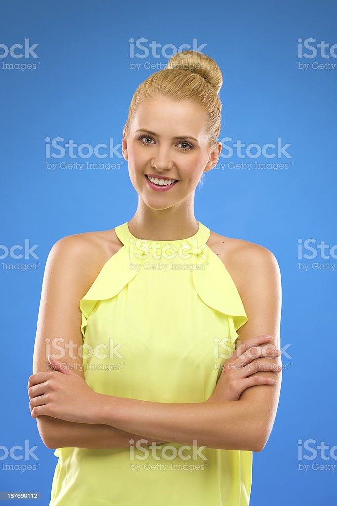 Confident attractive woman. royalty-free stock photo