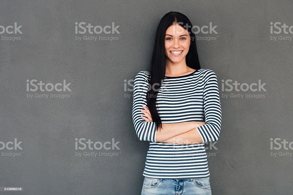 Confident beauty. stock photo