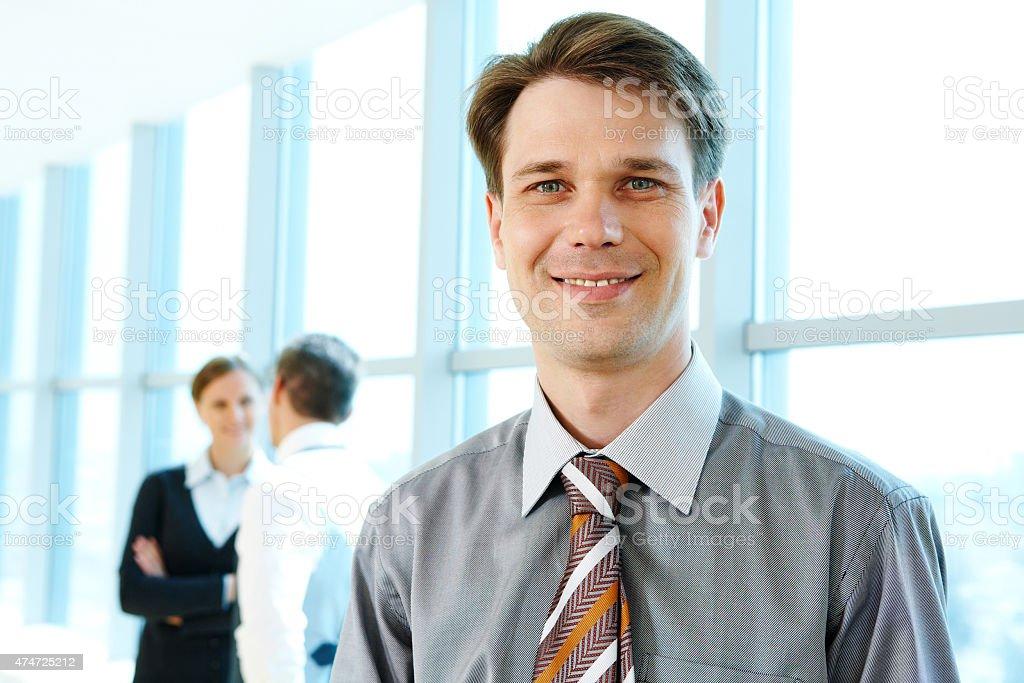 Confident boss stock photo