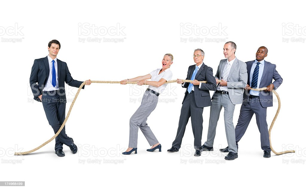 Confident business leader stock photo