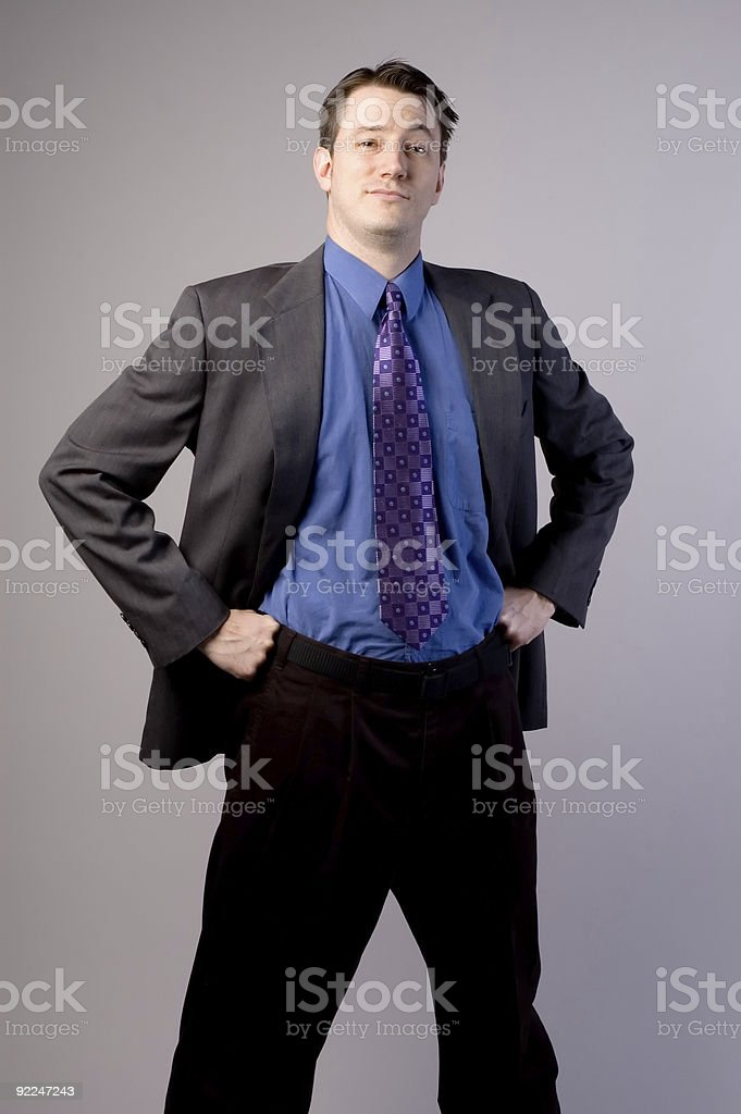 Confident Business Man 1 royalty-free stock photo