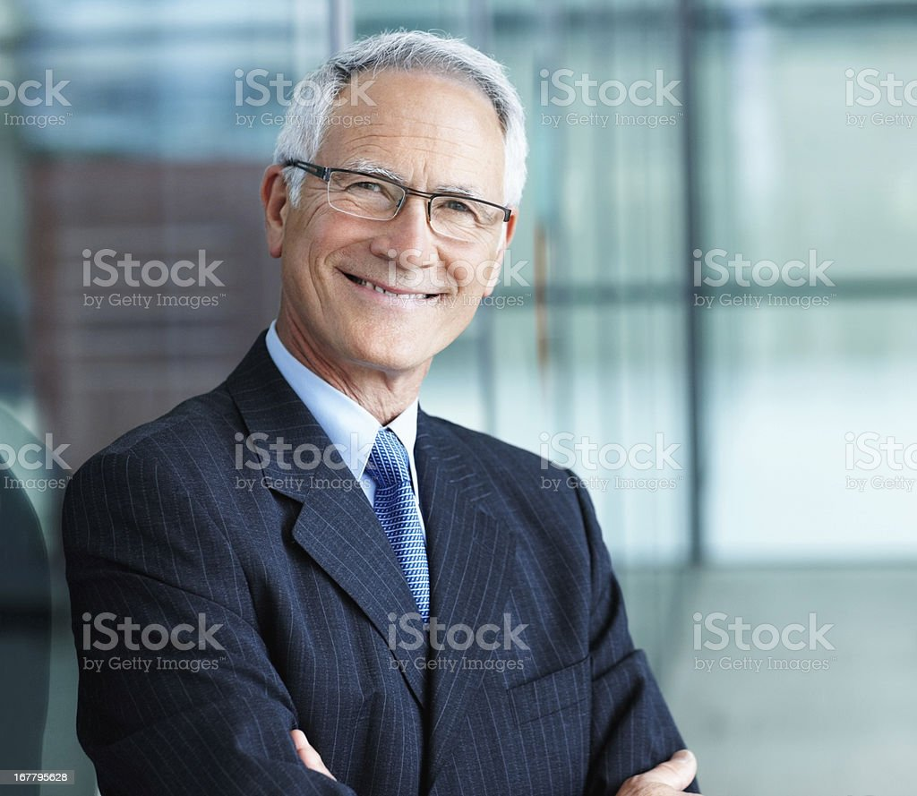Confident business man stock photo