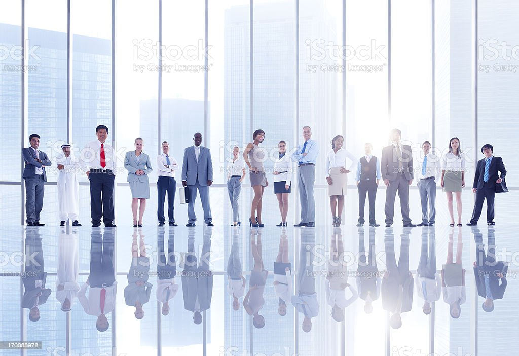 Confident business people. stock photo
