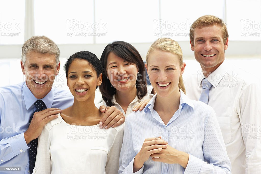 Confident business people stock photo
