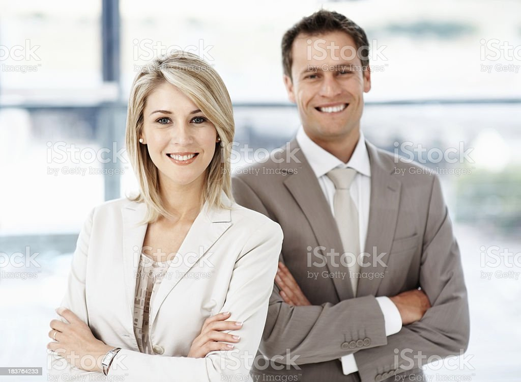 Confident business people royalty-free stock photo
