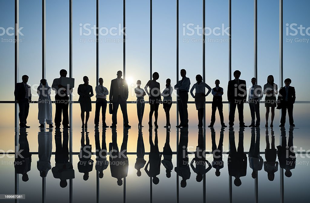 Confident Business People Silhouette. royalty-free stock photo