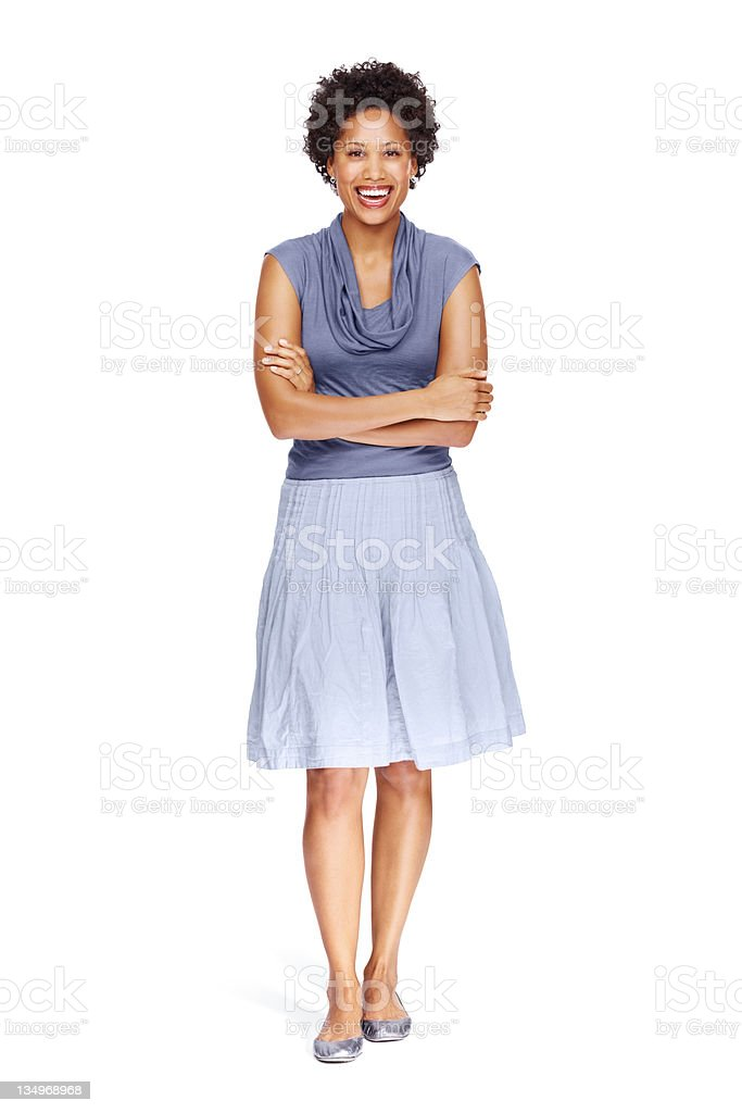 Confident business woman posing royalty-free stock photo