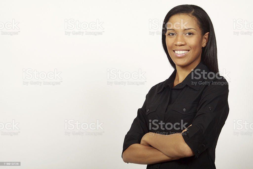 Confiant Femme d'affaires souriant photo libre de droits
