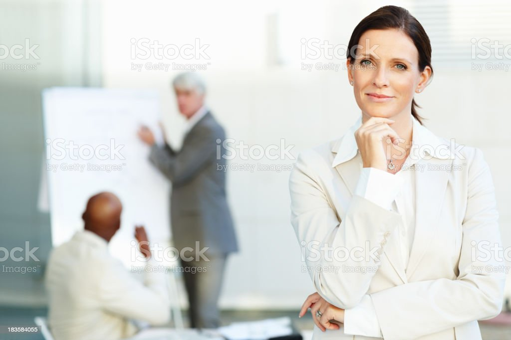 Confident business woman smiling royalty-free stock photo