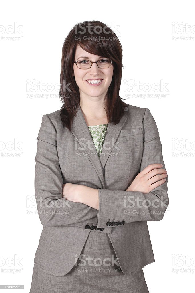 Confident business woman with glasses royalty-free stock photo