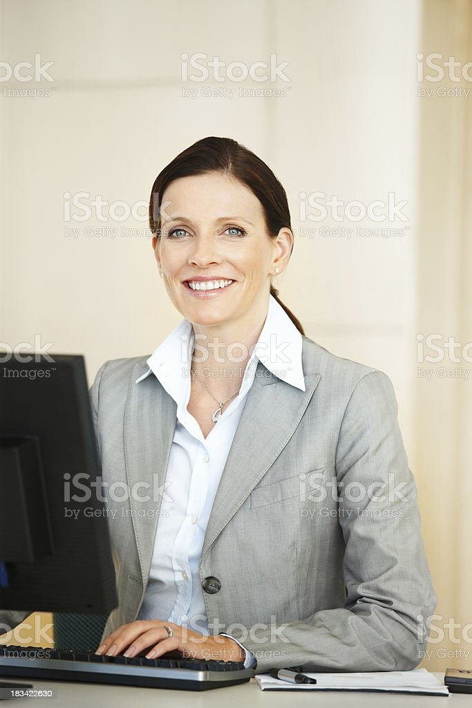 Confident business woman working royalty-free stock photo