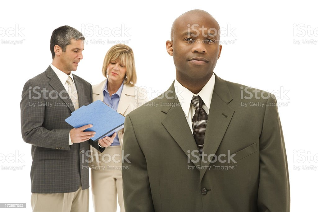 Confident Businessman and His Team royalty-free stock photo