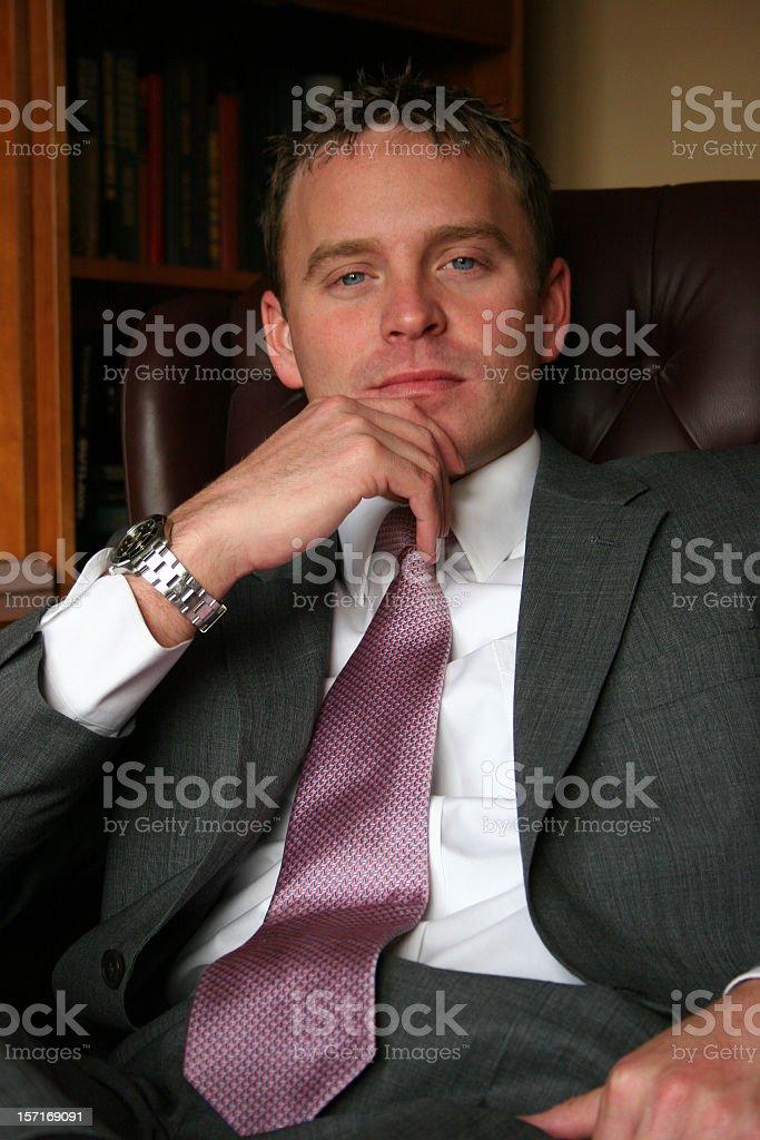 Confident Businessman Closeup royalty-free stock photo