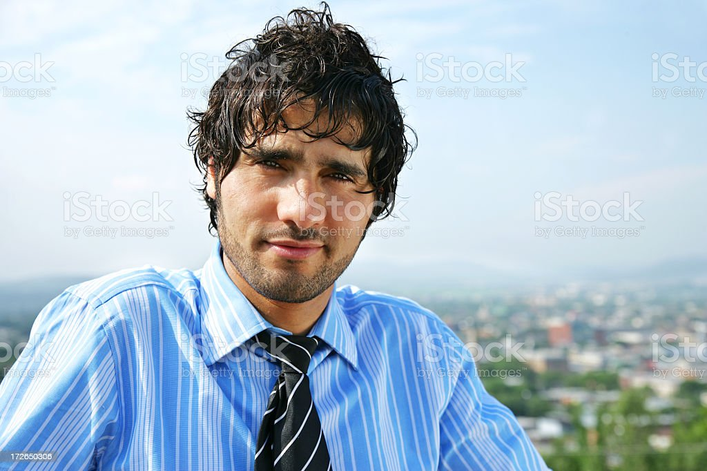 Confident businessman outdoors royalty-free stock photo